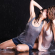 Wet women - Stock Photo
