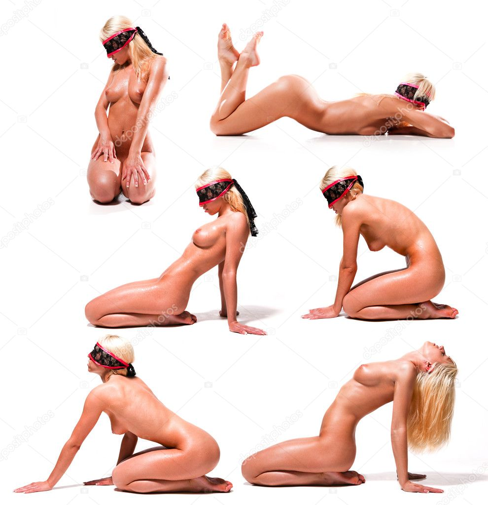 Set of beautiful naked woman with perfect body — Stock Photo #4663458