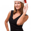 Stock Photo: Smiling women in Santa's hat