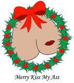 Merry Kiss My... — Stock Vector