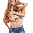 Royalty-Free Stock Photo: Portrait of a sexy couple in studio