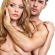 Stock Photo: Portrait of a naked couple