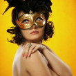 The sexy girl in a mask — Stock Photo