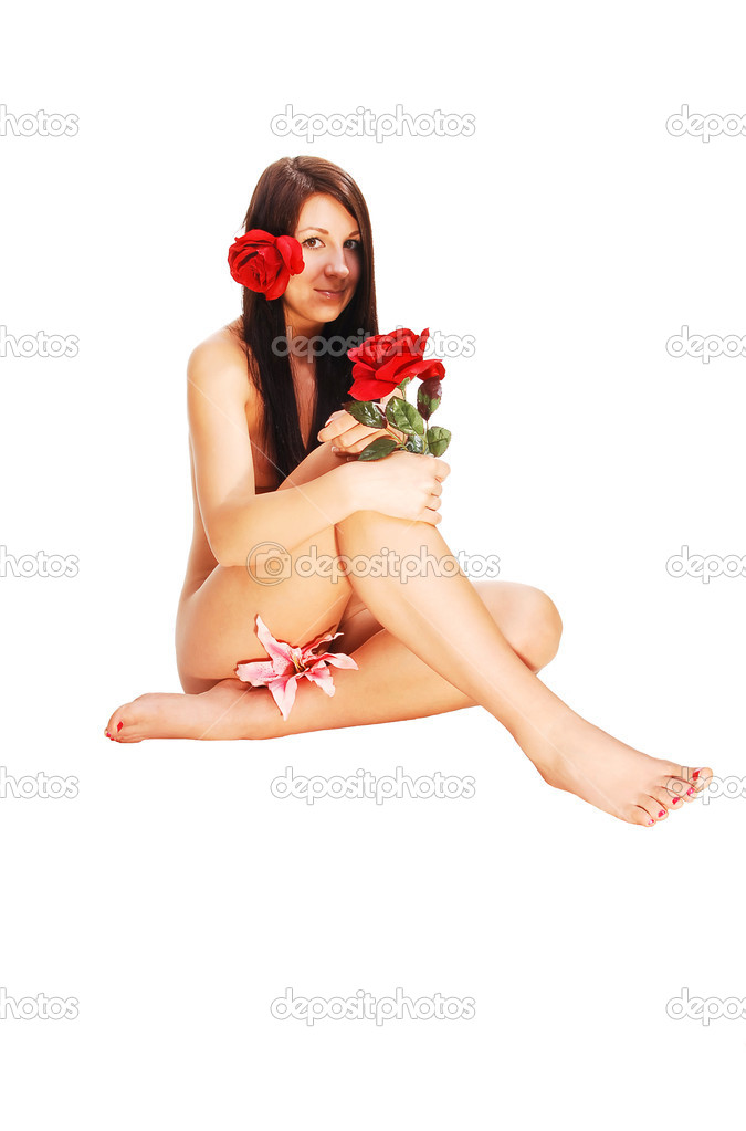 Nude Woman Sitting Stock Image