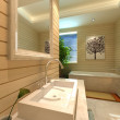 Rendering of the modern bathroom interior — Stock Photo