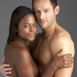 Young Naked Couple Embracing — Stock Photo